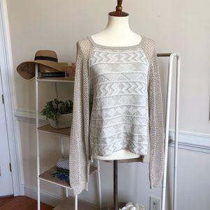 RACHEL ROY Aztec knit sweater